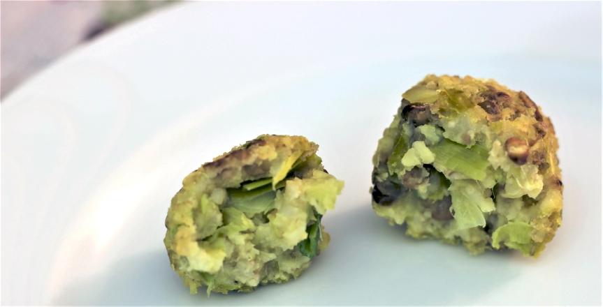 0-Polpette di miglio lenticchie e porro 4
