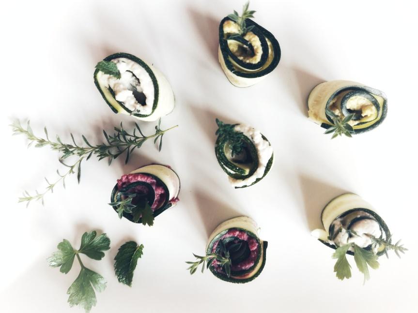 00 - Involtini di zucchine crude con crema di anacardi 1